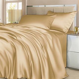 Шелковое постельное белье Beige евромакси