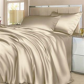 Шелковое постельное белье Beige Light семейное