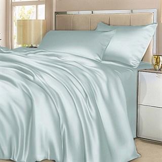 Шелковое постельное белье Бирюза семейное