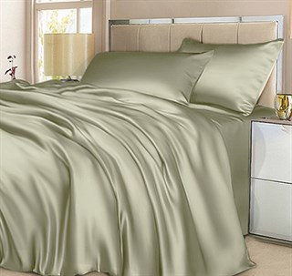 Шелковое постельное белье Green Light евромакси