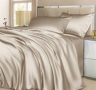 Шелковое постельное белье Sharmel Евро в простыней на резинке