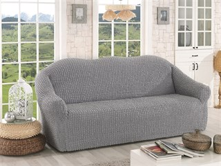 GREY Чехол на 3-х местный диван от 170 до 240 см серый
