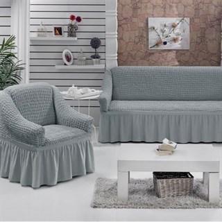 GREY Набор чехлов на диван и 2 кресла серый