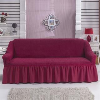 Fuchsia Чехол на 3-х местный диван от 170 до 240 см бургундский