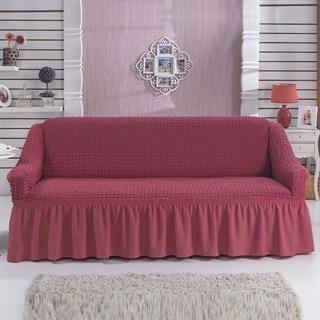 DARK ROSE Чехол на 3-х местный диван от 170 до 240 см кораллово-розовый