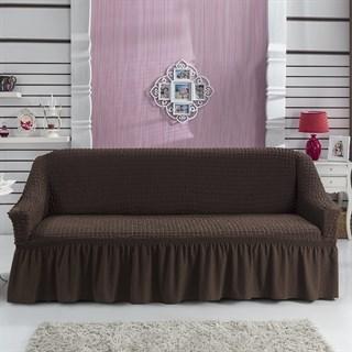 BRAUN Чехол на 3-х местный диван от 170 до 240 см коричневый