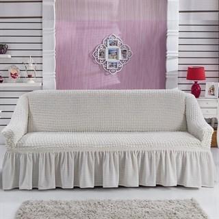 CREAM Чехол на 3-х местный диван от 170 до 240 см молочный