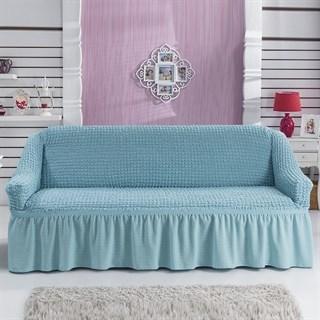 BLUE Чехол на 3-х местный диван от 170 до 240 см голубой