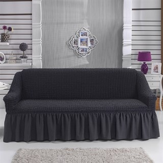 DARK GREY Чехол на 3-х местный диван от 170 до 240 см графитовый