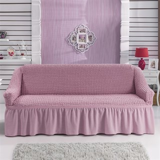 ROSE Чехол на 3-х местный диван от 170 до 240 см розовый