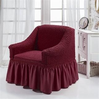 BORDO Чехол для кресла от 70 до 120 см бордовый