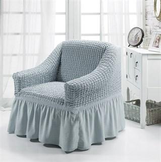 GREY Чехол для кресла от 70 до 120 см серый