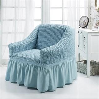 BLUE Чехол для кресла от 70 до 120 см голубой
