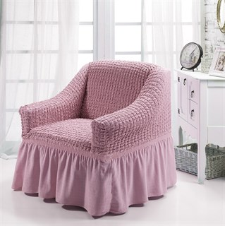 ROSE Чехол для кресла от 70 до 120 см розовый
