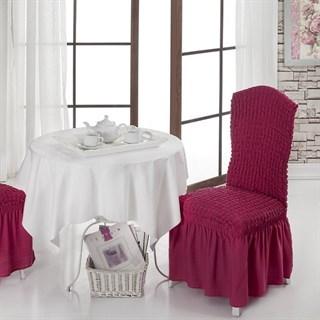 Fuchsia Чехлы на стулья со спинкой (2 шт.) бургундские