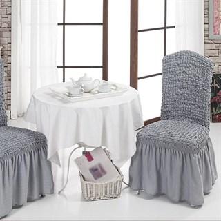 GREY Чехлы на стулья со спинкой (2 шт.) серые