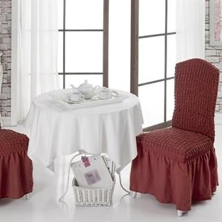 TERRACOTA Чехлы на стулья со спинкой (2 шт.) кирпичные