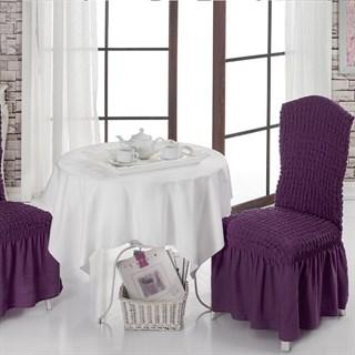 VIOLET Чехлы на стулья со спинкой (2 шт.) фиолетовые