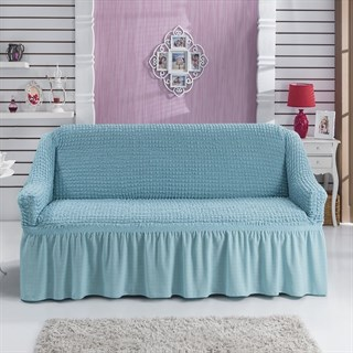 BLUE Чехол на 2-х местный диван от 120 до 170 см голубой