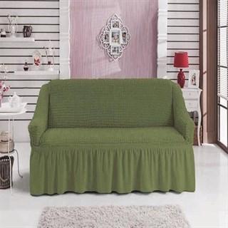GREEN Чехол на 2-х местный диван от 120 до 170 см зеленый