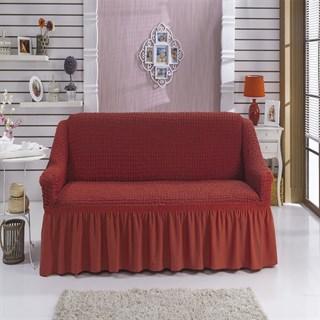 TERRACOTA Чехол на 2-х местный диван от 120 до 170 см кирпичный