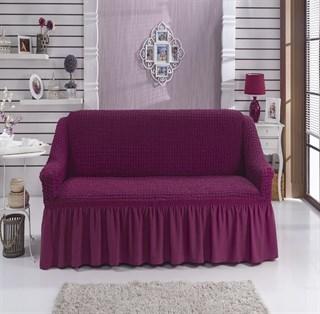BRIGHT LAVENDER Чехол на 2-х местный диван от 120 до 170 см бургундский