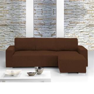 ТЕЙДЕ МАРОН Чехол на угловой диван с высупом справа темно-коричневый