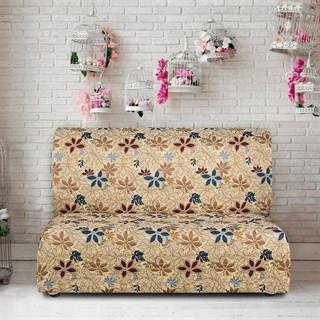 ДУНИЯ Чехол на диван без подлокотников от 160 до 210 см