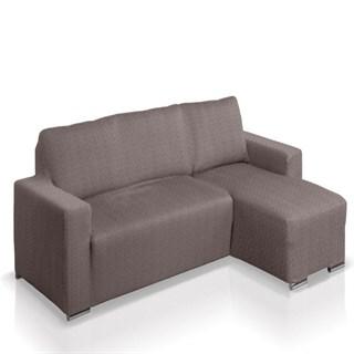 АЛЯСКА ГРИС Чехол на угловой диван с выступом справа