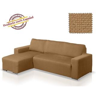 АЛЯСКА БЕЖ Чехол на угловой диван с выступом слева
