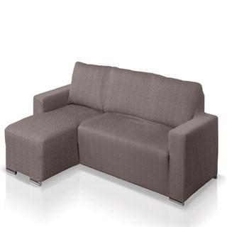 АЛЯСКА ГРИС Чехол на угловой диван с выступом слева
