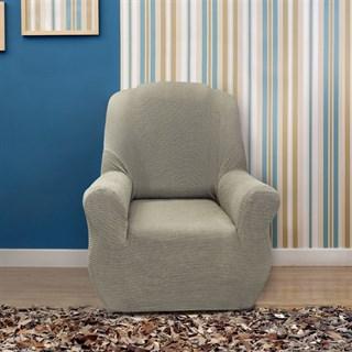 АЛЯСКА ГРИС КЛАРО Чехол на кресло от 70 до 110 см