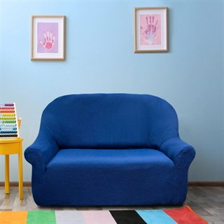 АЛЯСКА АЗУЛ Чехол на 2-х местный диван от 120 до 170 см