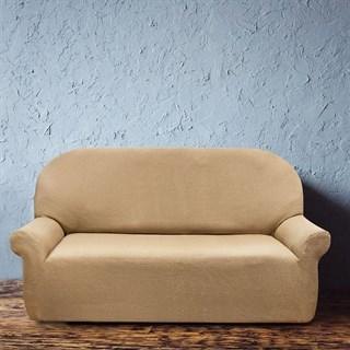 АЛЯСКА БЕЖ Чехол на 3-х местный диван от 170 до 230 см