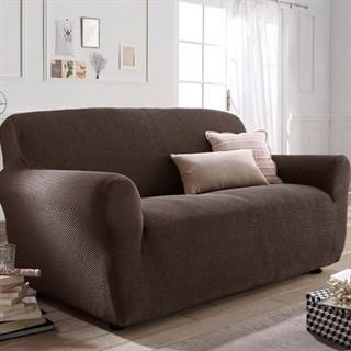 АЛЯСКА МАРОН Чехол на 3-х местный диван от 170 до 230 см