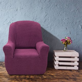 ЭЛЕГАНТ МАЛВА Чехол на кресло от 70 до 110 см