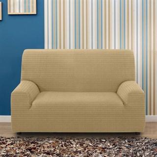 ИБИЦА БЕЖ Чехол на 2-х местный диван от 120 до 170 см