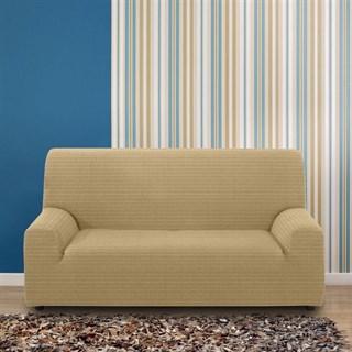 ИБИЦА БЕЖ Чехол на 3-х местный диван от 170 до 230 см
