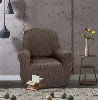 ТОСКАНА МАРОН Чехол на кресло от 70 до 110 см