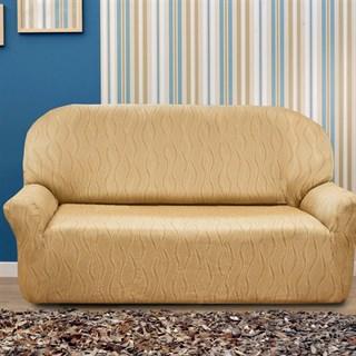 ТОСКАНА БЕЖ Чехол на 3-х местный диван от 170 до 230 см