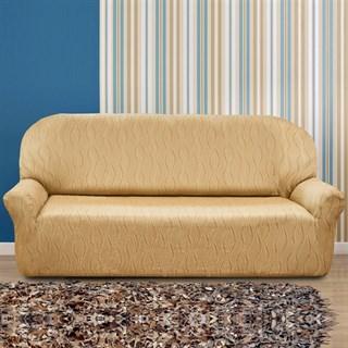 ТОСКАНА БЕЖ Чехол на 4-х местный диван от 230 до 270 см