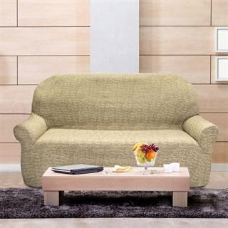 МАЛЬТА БЕЖ Чехол на 3-х местный диван от 170 до 230 см