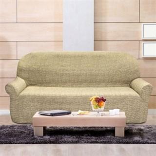 МАЛЬТА БЕЖ Чехол на 4-х местный диван от 230 до 270 см
