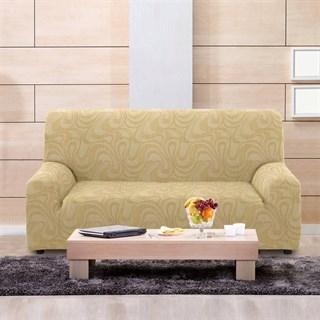 ДАНУБИО БЕЖ Чехол на 3-х местный диван от 170 до 230 см