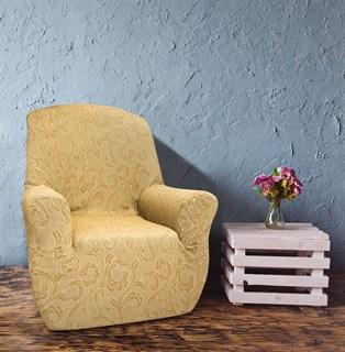 БОСТОН БЕЖ Чехол на кресло от 70 до 110 см