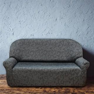 БОСТОН ГРИС Чехол на 3-х местный диван от 170 до 230 см