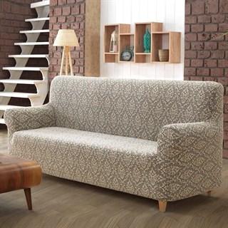 MILANO BEIGE Чехол на 3-х местный диван от 170 до 240 см бежевый