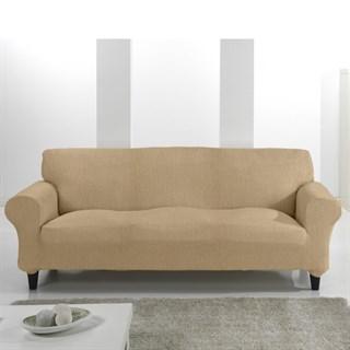 ТЕЙДЕ БЕЖ Чехол на 3-х местный диван от 170 до 230 см