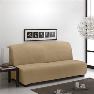 ТЕЙДЕ БЕЖ Чехол на диван без подлокотников от 160 до 210 см