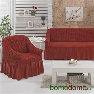 TERRACOTA Набор чехлов на диван и 2 кресла кирпичный